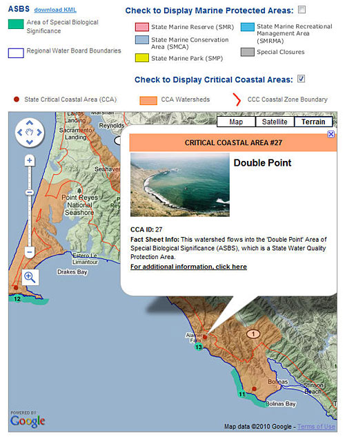 California Coastkeeper Alliance ASBS Map